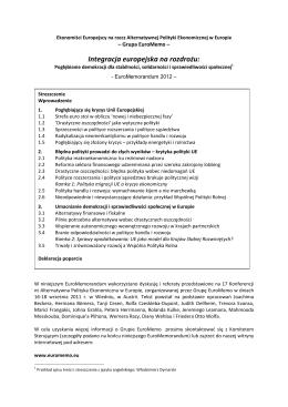 Euromemorandum 2012 tłumaczenie