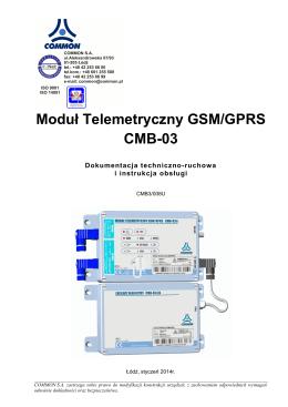 Moduł Telemetryczny GSM/GPRS - CMB-03 - DTR