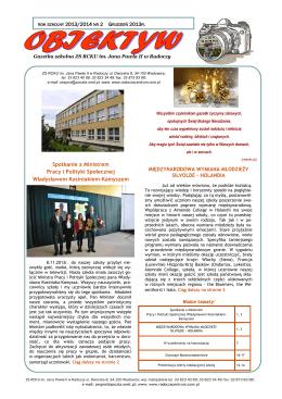 NR 2/Grudzień 2013 - Zespół Szkół w Radoczy