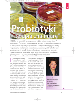 Probiotyki terapia na miarę