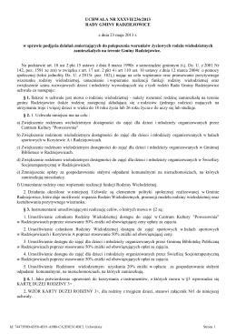 Uchwala Nr XXXVII/236/2013 z dnia 23 maja 2013 r.