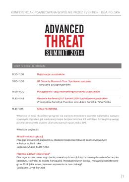 konferencja organizowana wspólnie przez evention i issa polska