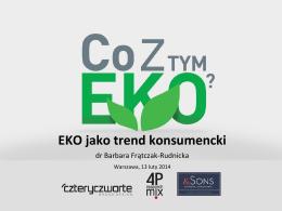 EKO jako trend konsumencki - Czteryczwarte Brand Design