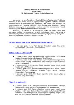 13. Ogólnopolski Tydzień Czytania Dzieciom