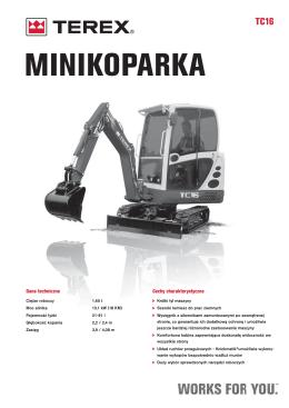 Minikoparka TEREX TC 16 (pdf)