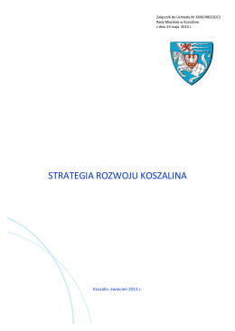 Strategia Rozwoju Koszalina - BIP