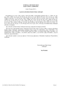 Uchwala Nr XXXIV/318/13 z dnia 18 marca 2013 r.