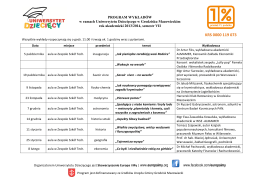 Program Uniwersytetu Dziecięcego na semestr VII
