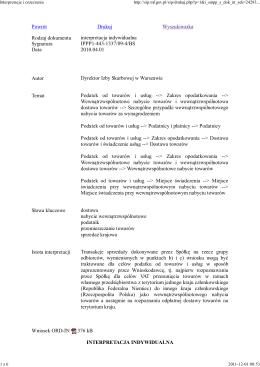 Podatek od towarów i usług /Uznanie za wewnątrzwspólnotowe