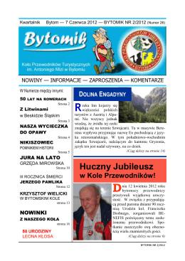 Bytomik 2/2012 - Koła Przewodników Turystycznych PTTK im