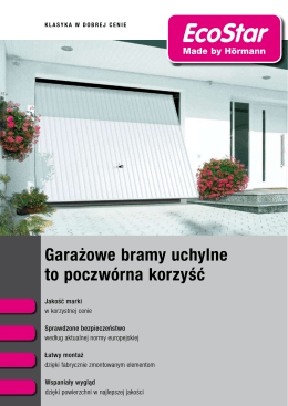 Prospekt w PDF - Ecostar / Made by Hörmann / Qualitäts