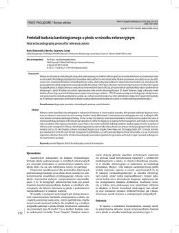 Protokół badania kardiologicznego u płodu w ośrodku referencyjnym