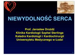 Prelekcja pt. Niewydolność serca - 2013