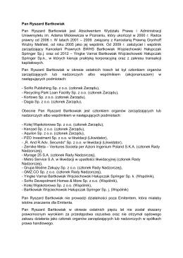 2014-10-08 Zyciorysy czlonkow Rady Nadzorczej