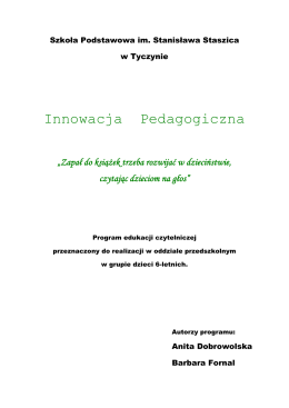 """Czytanie jest kluczem do wiedzy."""" - pdf"""