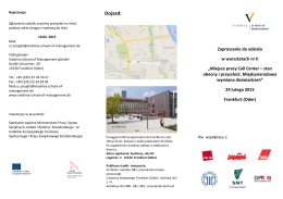 Dojazd: - Viadrina School of Management gGmbH