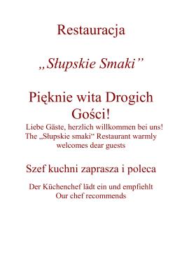 menu restauracji słupskie smaki