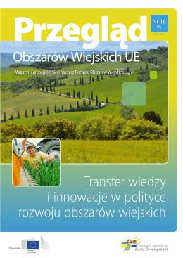 Transfer wiedzy i innowacje w polityce rozwoju obszarów wiejskich
