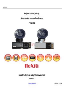 Polska instrukcja kamerki samochodowej FX201