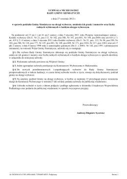 Uchwala Nr XII/134/2012 z dnia 27 wrzesnia 2012 r.