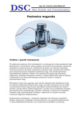 Poziomica wagarska - Majewski Andrzej | Czujniki, pomiary i