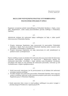Regulamin antymobingowy