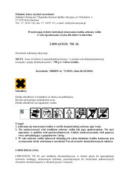 CHWASTOX 750 SL - Organika-Sarzyna
