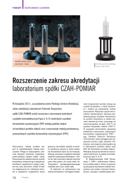 Rozszerzenie zakresu akredytacji laboratorium spółki CZAH