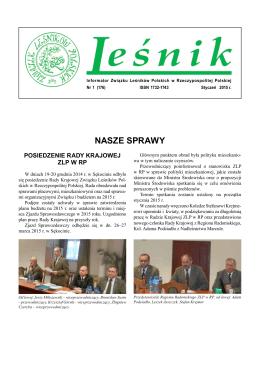 """""""Leśnik"""" nr 1 - Związek Leśników Polskich w Rzeczypospolitej Polskiej"""