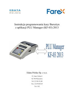 programem PLU manager