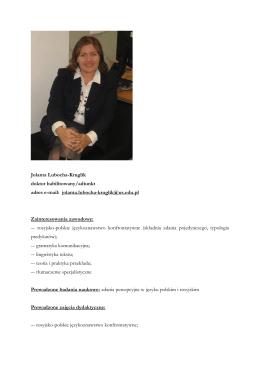 dr hab. Jolanta Lubocha-Kruglik