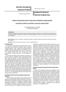 Systemy Zarządzania w Inżynierii Produkcji