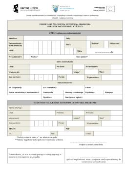 Formularz zgłoszeniowy - Poradnik pozytywnego myślenia