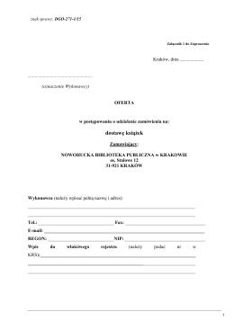Zał.1 -oferta - Nowohucka Biblioteka Publiczna