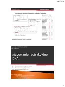 mapowanie DNA, motywy regulacyjne DNA