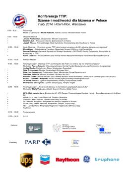 Konferencja TTIP: Szanse i możliwości dla biznesu w Polsce