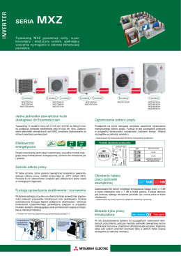 SERIA MXZ INVERTER - Mitsubishi Electric