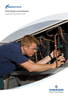 Instrukcje montażowe - Emerson Climate Technologies