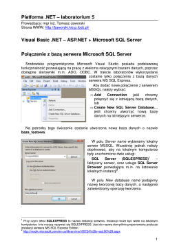 ASP.NET + Microsoft SQL Server