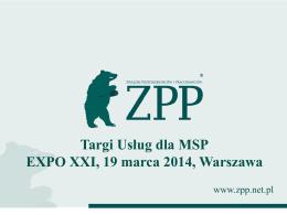 Targi Usług dla MSP EXPO XXI, 19 marca 2014