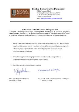 pobierz pdf - Polskie Towarzystwo Patologów