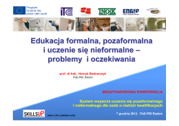 Edukacja formalna, pozaformalna i uczenie się nieformalne