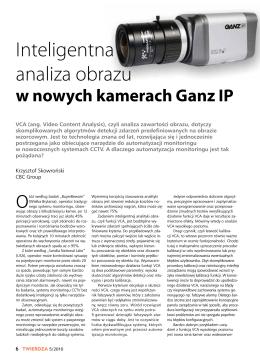 Inteligentna analiza obrazu w kamerach GANZ