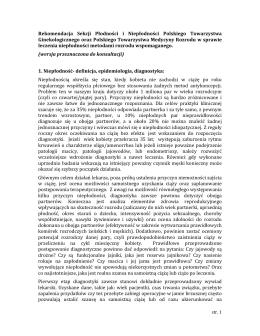 Rekomendacja Sekcji Płodności i Niepłodności Polskiego