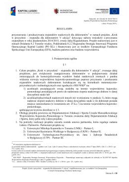 Regulamin - nabór 2014/2015 (PDF)