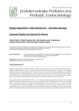 read PDF - Endokrynologia Pediatryczna