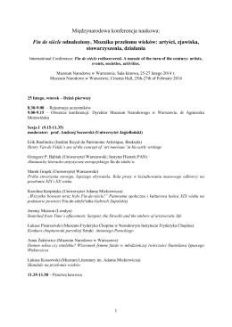 program konferencji - Spotkania z Zabytkami