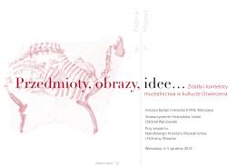 1. Zaproszenie na konferencję - Narodowy Instytut Muzealnictwa i