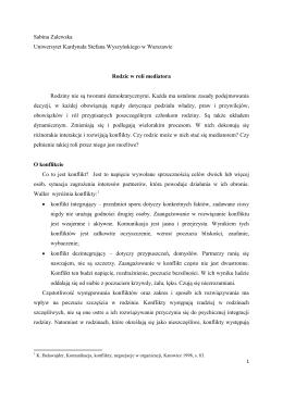 Rodzic w roli mediatora (PDF)