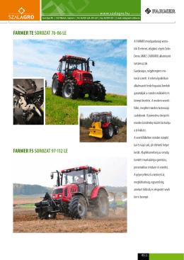 Farmer traktor -- F5 és TE sorozat - Szal
